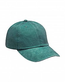 AD969 Adams 6 Panel Low Profile Washed Optimum Pigment Dyed Cap
