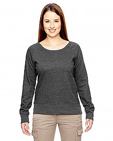 econscious Ladies 7 oz. Organic Recycled Heathered Fleece Raglan Pullover