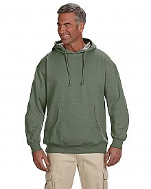 Econscious 7 oz. Organic Recycled Heathered Fleece Pullover Hood
