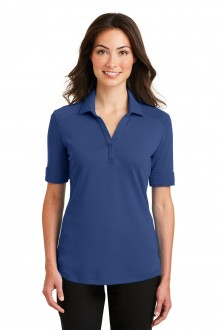 Port Authority Ladies Silk Touch Interlock Performance Polo.