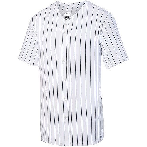 Augusta Pinstripe full button baseball jersey