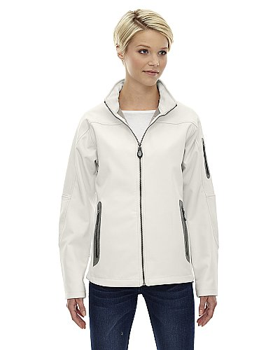 North End Ladies Three-Layer Fleece Bonded Soft Shell Technical Jacket
