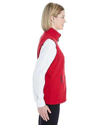 Core 365 Ladies' Cruise Two-Layer Fleece Bonded Soft Shell Vest