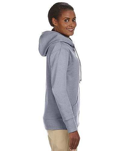 Econscious Ladies 7 oz. Organic Recycled Heathered Fleece Full Zip Hood