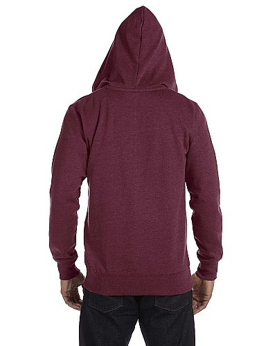 Econscious 7 oz. Unisex Organic Recycled Heathered Full Zip Hood