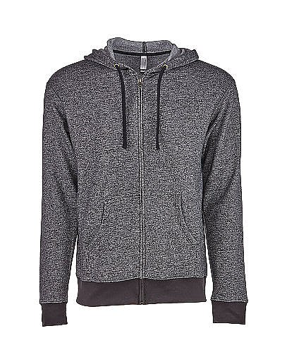 Next Level Unisex Denim Fleece Full Zip Hoodie