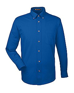 Harriton Men s Long Sleeve Twill Shirt with Stain Release