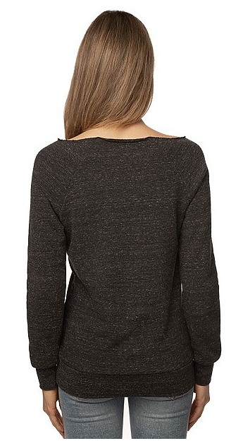 Royal Apparel Women's Eco Triblend Fleece Raglan with Pouch Pocket